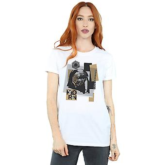 Star Wars Women's The Last Jedi Kylo Ren Patchwork Boyfriend Fit T-Shirt