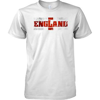 England Grunge Country Name Flag Effect - St George - Mens T Shirt
