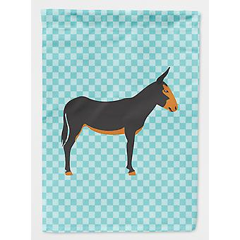 Carolines Treasures  BB8029GF Catalan Donkey Blue Check Flag Garden Size