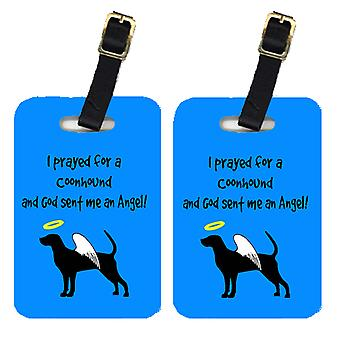 Carolines Treasures  AN1118BT Pair of 2 Coonhound Luggage Tags