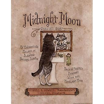Midnight Moon Poster Print by Kathy Jennings (11 x 14)