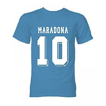 T-Shirt Diego Maradona Hero (Blue Sky)