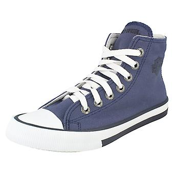 Ladies Harley Davidson Lace Up Canvas Pumps Flora D83815 - Blue Canvas - UK Size 4.5 - EU Size 37.5 - US Size 6.5