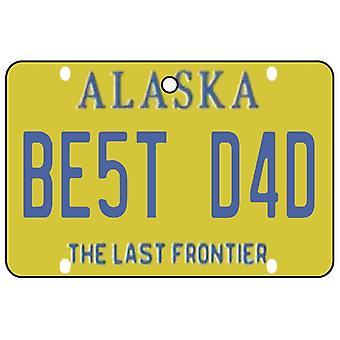 Alaska - Best Dad License Plate Car Air Freshener