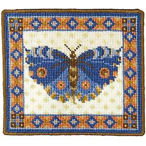 Blue Butterfly Tapisserie Toile