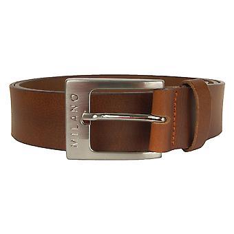 Cintura in pelle di luce marrone 38mm Milano XXL