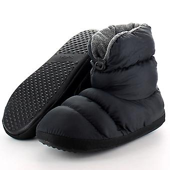 Cotswold Ladies Casual Comfort Camping Bootie Slippers Black