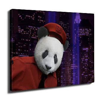 Panda Beast Face Wall Art Canvas 40cm x 30cm | Wellcoda