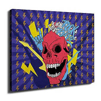 Music Demon Wall Art Canvas 40cm x 30cm | Wellcoda