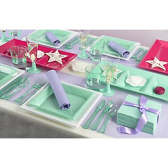 Party tableware set for 8 guests 137-teilig party package pastel party package