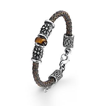 s.Oliver jewel mens leather bracelet stainless steel SO785/1 - 417587