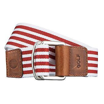 GOLF belter belter menns belter tekstil belte med dobbel ring mønstret røde 3491