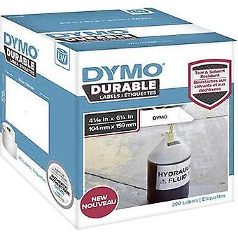 DYMO 1933086 Label roll 159 x 104 mm PE film White 200 pc(s) Permanent All-purpose labels, Address labels