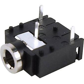Cliff FC68131 3.5 mm ljudutgång uttag, horisontella mount antal stift: 3 Stereo svart 1 dator