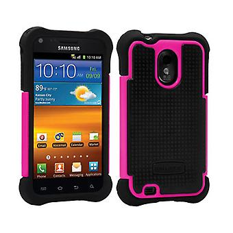 Ballistic Shell Gel Case for Samsung D710, EPIC 4G TOUCH, R760 GALAXY S2 - Black/Pink