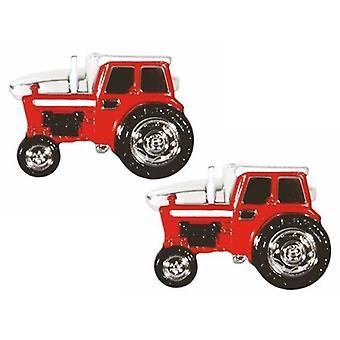 Zennor traktor manschettknappar - röd
