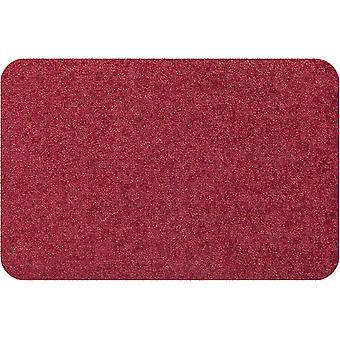 Salonloewe Mini-Fußmatte Wohnmatte Weinrot ohne Rand einfarbig