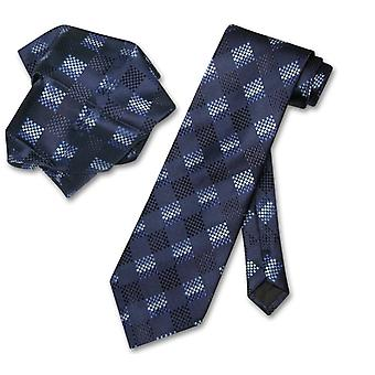 Antonio Ricci NeckTie Handkerchief Design Men's Neck Tie Set