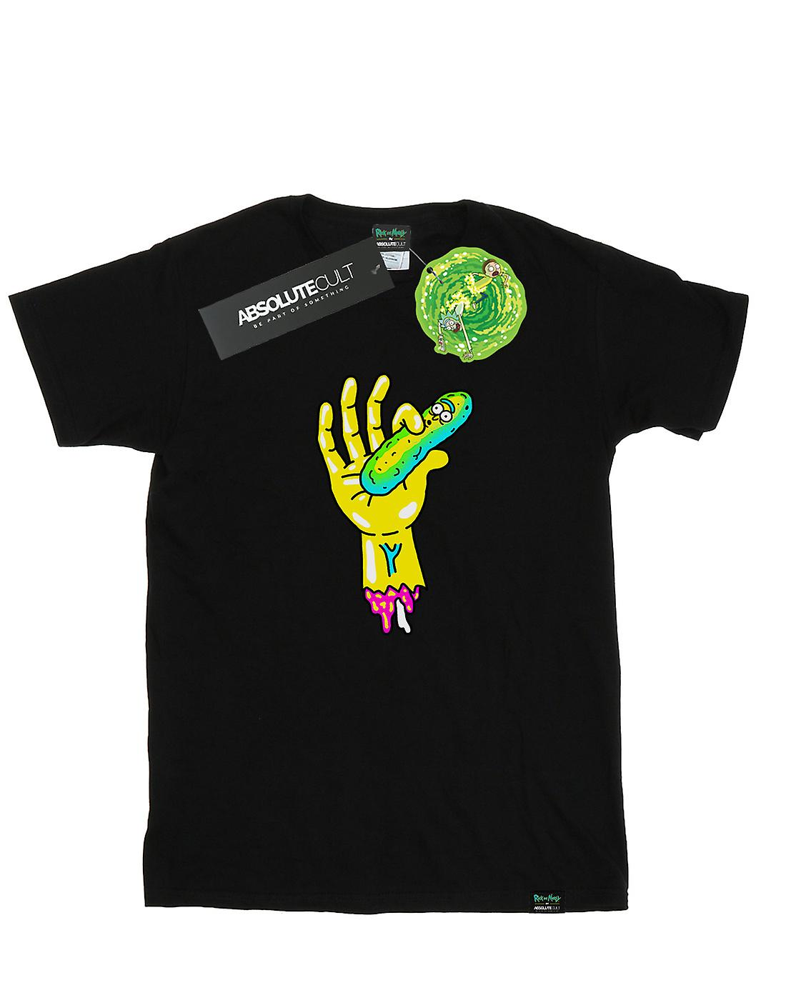 Rick And Morty Men's Pickle Hand T-Shirt