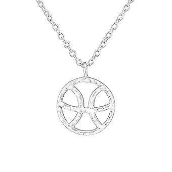 Pisces Zodiac Sign - 925 Sterling Silver Plain Necklaces - W36719x