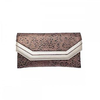 Sabrina Chic Leather Skin Envelope Style Clutch Bag
