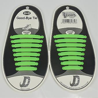 Trendy schoenveters die niet hoeven te worden gebonden 8 paren. groen