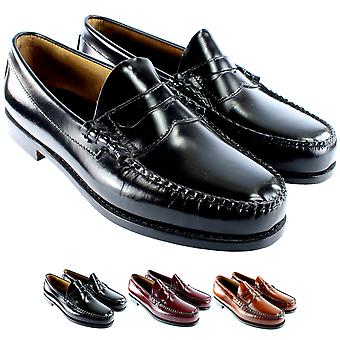 Mens G.H. Bass Larson Slip On Smart Penny Loafer Flat Leather Shoes
