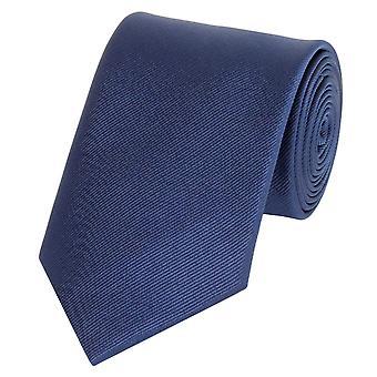 Schlips Krawatte Krawatten Binder 8cm blau strukturiert uni Fabio Farini