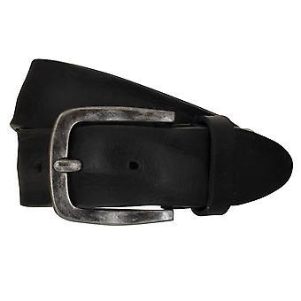 LLOYD Men's belt belts men's belts leather belt black 7774