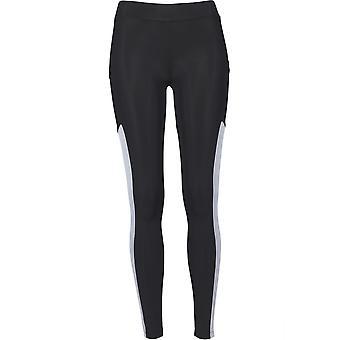 Urban classics ladies leggings tech mesh striped Pocket