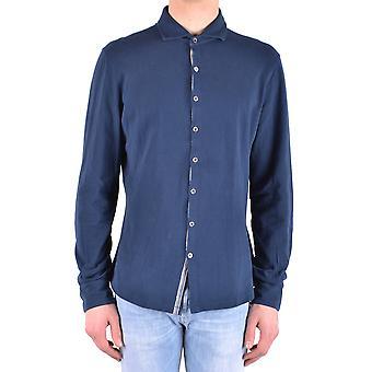 Peuterey Ezbc017066 Men's Blue Cotton Shirt