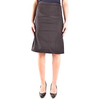 Armani Collezioni Black Wool Skirt