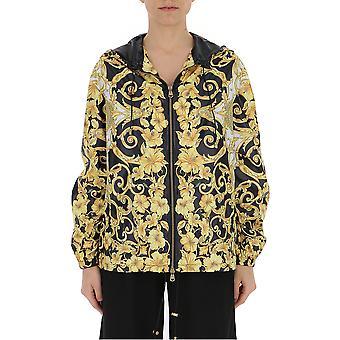 Versace Black/gold Nylon Outerwear Jacket
