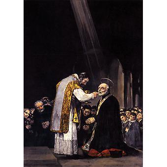 Laatste communie van Sint Jozef van Calasanz, Francisco Goya, 60x43cm