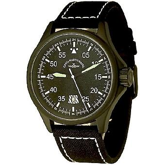 Zeno-watch Herre ur hastighed Navigator Q sort 6750Q-a1