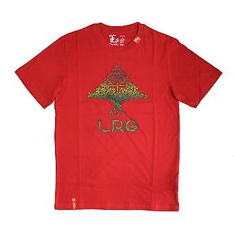 LRG Grass Roots vier T-shirt rood