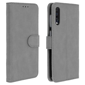 Flip wallet case, magnetic cover with stand for Samsung Galaxy A50 - Grey