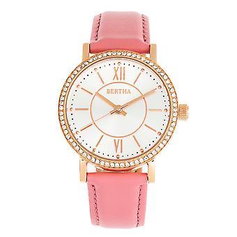 Bertha Lidia banda de cuero reloj - rosa