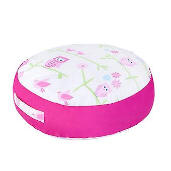 Ready Steady Bed® Children's Owls Design Round Floor Cushion with Carry Handle