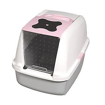 Lettiera gatto con cappuccio Catit-rosa