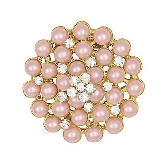 Ewige Sammlung Tahiti Pink Pearl und Crystal Cluster Schal Clip