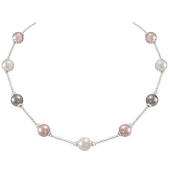 Éternelle Collection Knightsbridge Multi couleur coquille perle fermoir collier