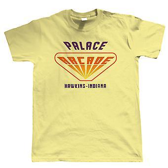 Palace Arcade Mens T-Shirt   Action Adventure Horror Sci-Fi TV Series Binge Halloween Gaming Old Skool   Upside Down DND 80s Small Town Summer   Geek Gift Him