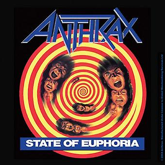 Anthrax Coaster State Of Euphoria new Official 9.5cm x 9.5cm single cork