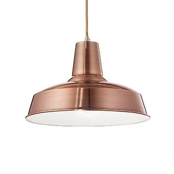 Ideal Lux Moby Single Pendant Light Copper