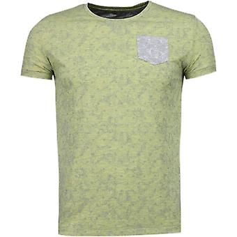 Scroll pattern Summer-T-Shirt-Yellow