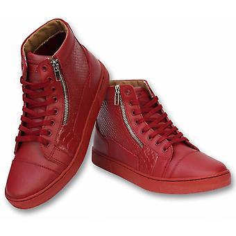 Shoes - Sneaker High Heel - Devil Red