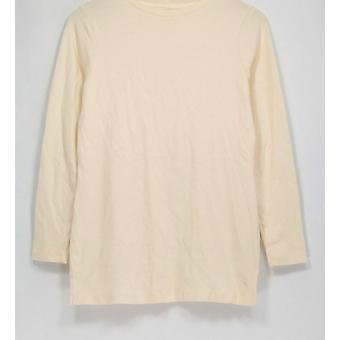 Isaac Mizrahi Live! Top Essentials Long Sleeve Knit Ivory A256464
