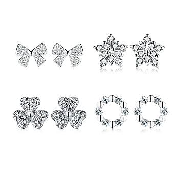 925 Sterling Silver Christmas Theme Designs Studs Earrings