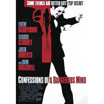 Bekentenissen poster Sam Rockwell, Drew Barrymore, Julia Roberts, George Clooney